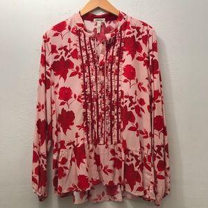 NWOT Matilda Jane red floral top